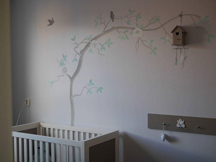 Kinderkamer Behang Vogelhuisjes : Sisterart u2013 muurschilderingen decoraties artwork